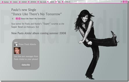 Paula Abdul New Album 2008