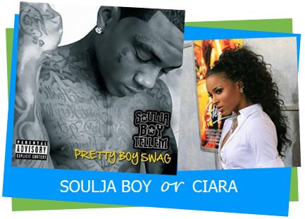 """Pretty Boy Swag"" / ""Pretty Girl Swag"" Soulja Boy or Ciara – This Track or That Track"